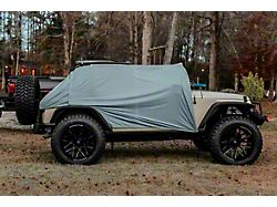 My Wet Willy Tailgate Tent and Rain Cover; Gray (07-21 Jeep Wrangler JK & JL)