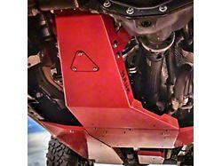Hauk Off-Road Engine Skid Plate; Gloss Firecracker Red (18-21 3.6L Jeep Wrangler JL)