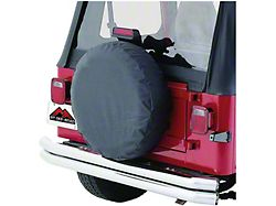 27 to 29-Inch Spare Tire Cover; Black (66-18 Jeep CJ5, CJ7, Wrangler YJ, TJ & JK)