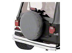 30 to 32-Inch Spare Tire Cover; Gray (66-18 Jeep CJ5, CJ7, Wrangler YJ, TJ & JK)