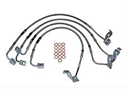 Stainless Steel Front and Rear Brake Hose Kit for 0 to 6-Inch Lift (07-10 Jeep Wrangler JK)