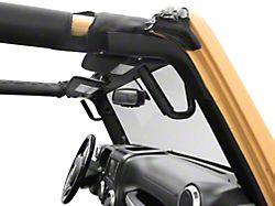 Steel Front and Rear Grab Handles; Textured Black (07-18 Jeep Wrangler JK)