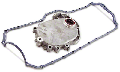 Omix-ADA Timing Cover For 4.0L Engine w/ Molded Rubber Oil Pan Gasket (93-99 Wrangler YJ & TJ)