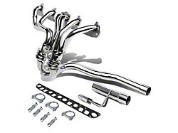 1.50-Inch Shorty Header with Y-Pipe; Polished (91-99 4.0L Jeep Wrangler YJ & TJ)