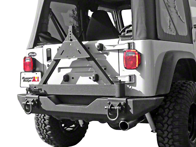 Rugged Ridge Tire Carrier for XHD Rear Bumper (87-06 Wrangler YJ & TJ)