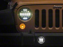LED DRL Projector Headlights and Fog Lights; Black Housing; Clear Lens (07-18 Jeep Wrangler JK)