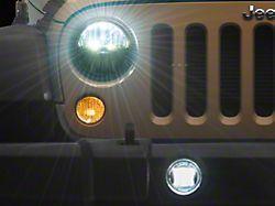 LED Headlights and Fog Lights; Chrome Housing; Clear Lens (07-18 Jeep Wrangler JK)