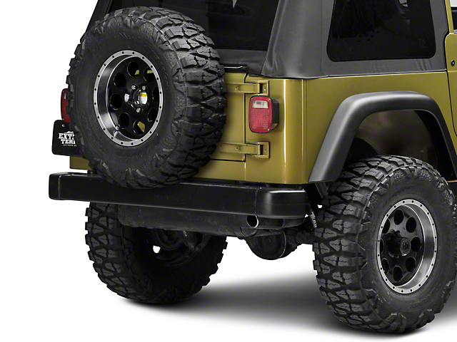 Rugged Ridge Tire Carrier Heavy Duty; Textured Black (87-06 Jeep Wrangler YJ & TJ)