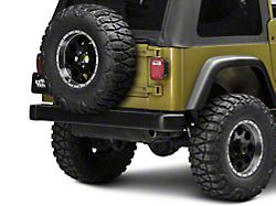 Rugged Ridge Tire Carrier Heavy Duty - Textured Black (87-06 Jeep Wrangler YJ & TJ)