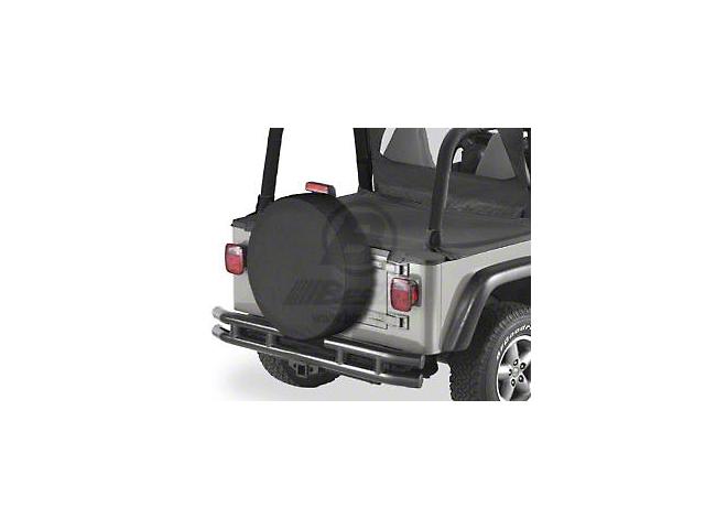 Bestop 31x11 in. Spare Tire Cover - Black Denim (87-20 Jeep Wrangler YJ, TJ, JK & JL)