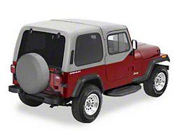 Bestop Spare Tire Cover; Black Crush; 28x8-Inch Tire Cover (66-18 Jeep CJ5, CJ7, Wrangler YJ, TJ & JK)