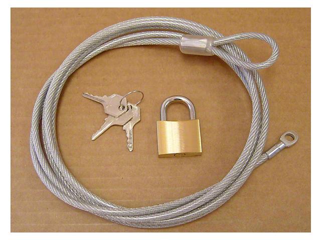 Car Cover Lock & Cable Kit (87-18 Jeep Wrangler YJ, TJ & JK)