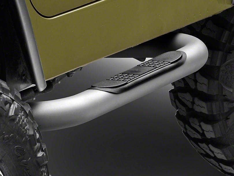Rugged Ridge Nerf Bars - Titanium (87-06 Jeep Wrangler YJ & TJ, Excluding Unlimited)