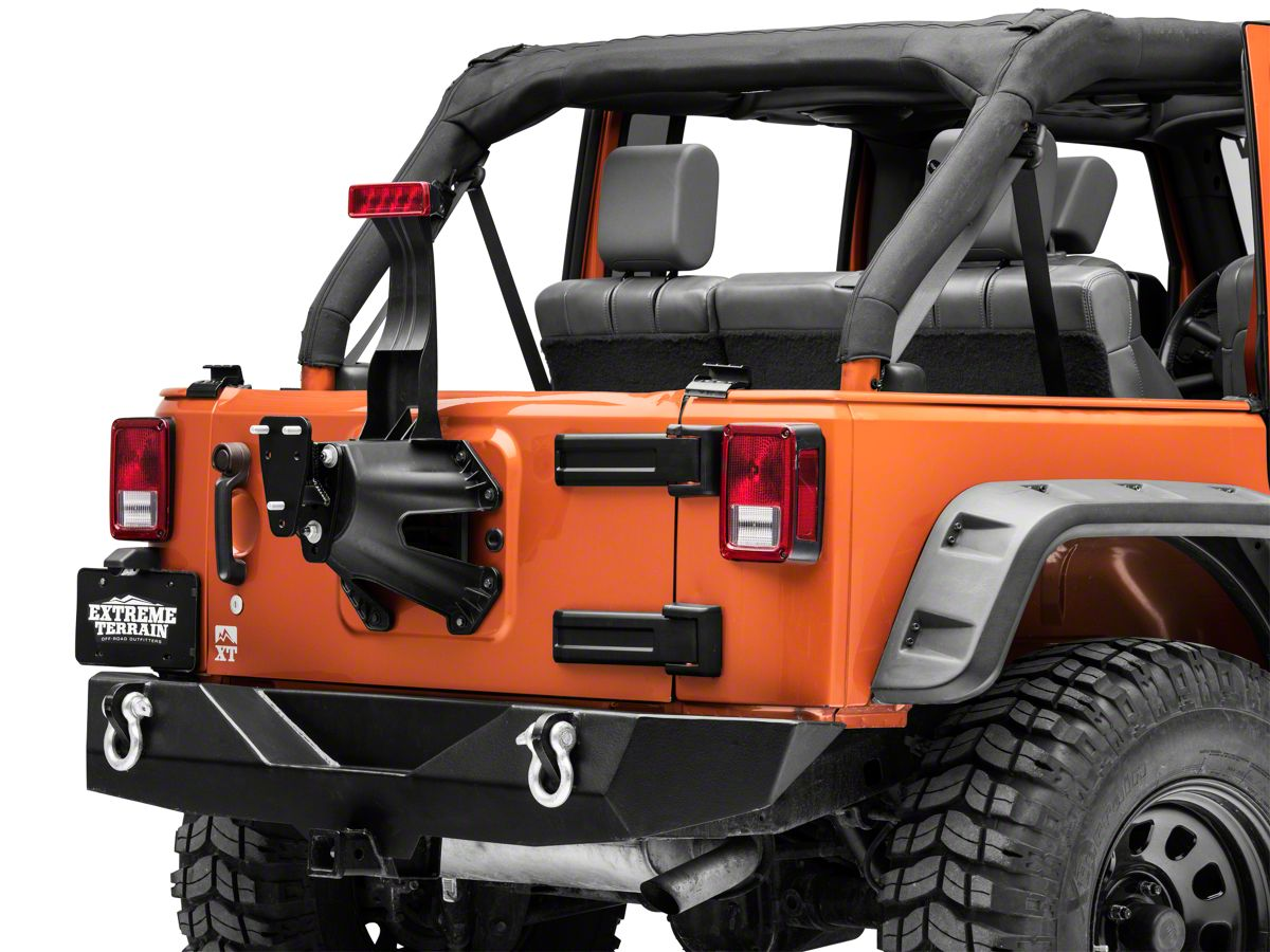 Smittybilt Spare Tire Relocation//Extension Bracket 1997-2006 Jeep Wrangler TJ LJ