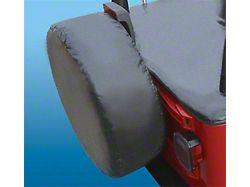27 to 29-Inch Spare Tire Cover; Silver Diamond (66-18 Jeep CJ5, CJ7, Wrangler YJ, TJ & JK)