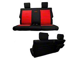 Bartact Tactical Series Rear Seat Cover; Black (18-21 Jeep Wrangler JL 2-Door)