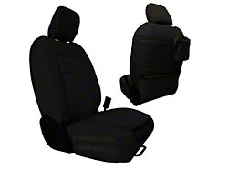 Bartact Tactical Series SRS Air Bag Compliant Front Seat Covers; Black (18-21 Jeep Wrangler JL 4-Door)