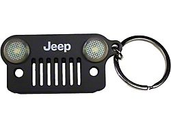 Jeep Grille LED Keychain; Black
