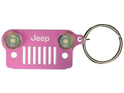 Jeep Grille LED Keychain; Pink
