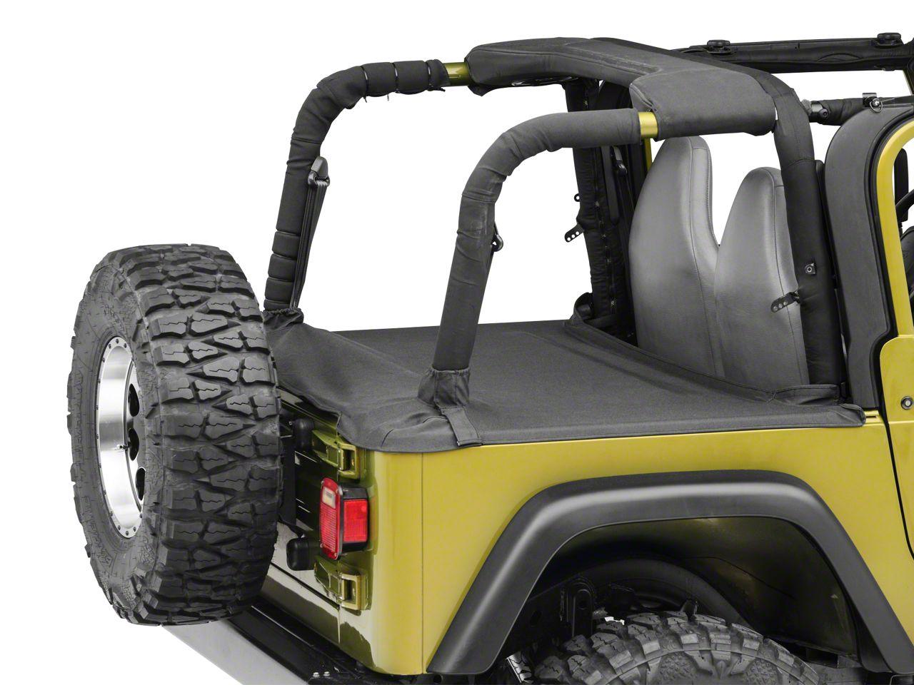 Smittybilt Tonneau Cover - Black Denim (97-06 Jeep Wrangler TJ, Excluding Unlimited)