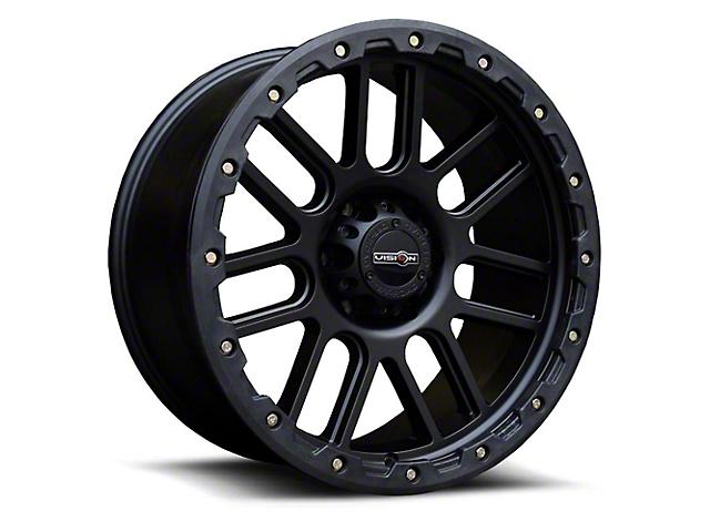 Vision Off-Road 111 Nemesis Matte Black Wheel; 18x9 (18-21 Jeep Wrangler JL)