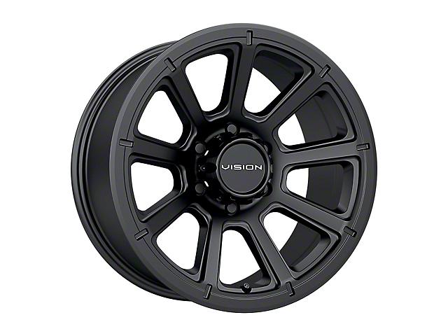 Vision Off-Road 353 Turbine Matte Black Wheel; 17x8.5 (18-21 Jeep Wrangler JL)