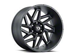 Vision Off-Road 360 Sliver Satin Black Wheel; 20x10 (20-22 Jeep Gladiator JT)