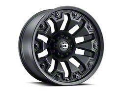Vision Off-Road 362 Armor Satin Black with Black Bolt Inserts Wheel; 20x9 (18-21 Jeep Wrangler JL)