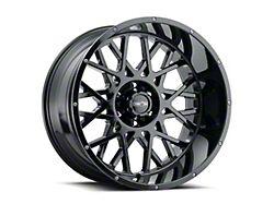 Vision Off-Road 412 Rocker Gloss Black Wheel; 20x10 (18-21 Jeep Wrangler JL)