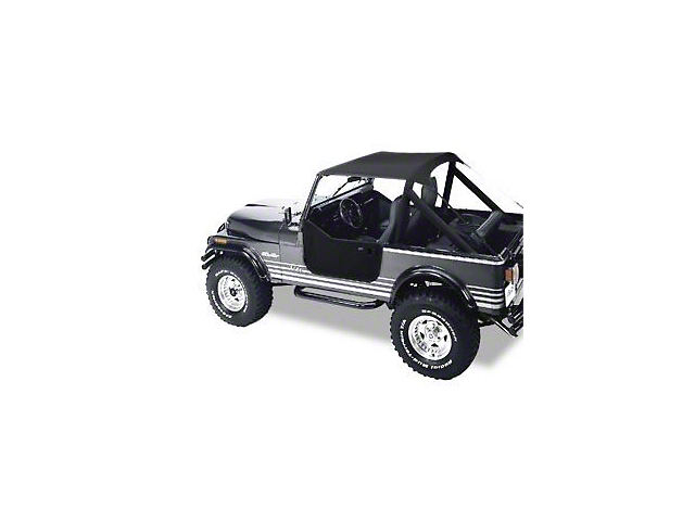Bestop Traditional Bikini Top - Black (87-91 Jeep Wrangler YJ)