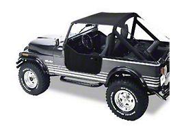 Bestop Traditional Bikini Top - Black (87-91 Jeep Wrangler YJ)