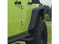 Iron Cross Fender Flares; Rear; Raw (07-18 Jeep Wrangler JK)
