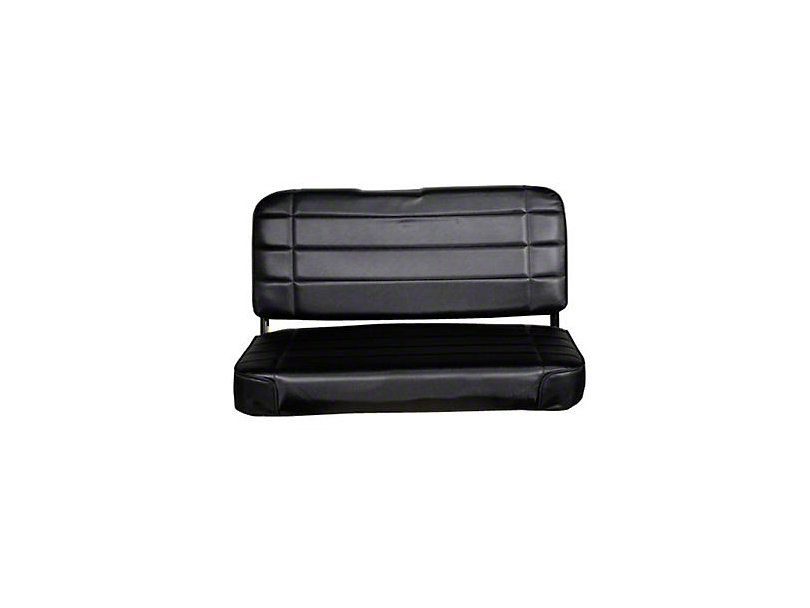 Smittybilt Standard Rear Seat Vinyl - Traditional Black (87-95 Jeep Wrangler YJ)
