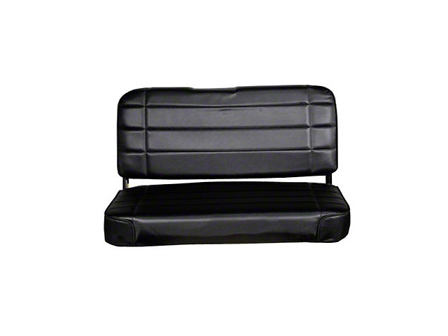 Smittybilt Rear Standard Seat; Traditional Black (87-95 Jeep Wrangler YJ)