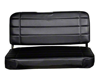 Smittybilt Standard Rear Seat Vinyl - Traditional Black (87-95 Wrangler YJ)