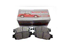 SP Performance Street Plus Semi-Metallic Brake Pads; Front Pair (18-21 Jeep Wrangler JL w/ Vented Rear Rotors)