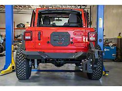 DV8 Offroad Rear Bumper with Frame Mounted Tire Carrier (18-21 Jeep Wrangler JL)