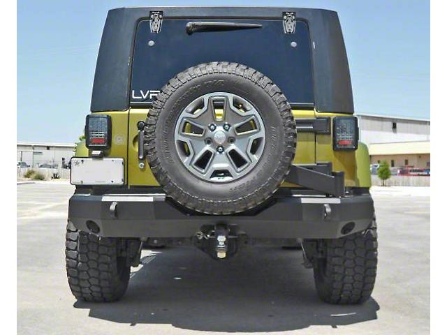 Full-Width Rear Bumper; Textured Black (07-18 Jeep Wrangler JK)