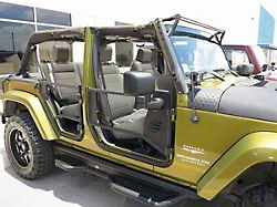 Tubular Front Doors; Fine Textured Black (07-18 Jeep Wrangler JK)