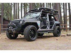 Tubular Front Doors; Fine Textured Black (18-21 Jeep Wrangler JL)