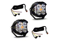 Baja Designs LP4 Steel Bumper Light Kit (20-22 Jeep Gladiator JT Launch Edition, Rubicon w/ Upfitter Switch)