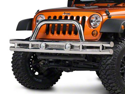 Rugged Ridge Tube Front Bumper - Stainless Steel (07-18 Jeep Wrangler JK)