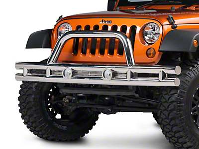 Rugged Ridge Tube Front Bumper - Stainless Steel (07-18 Wrangler JK; 2018 Wrangler JL)