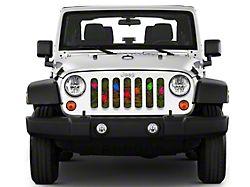 Under the Sun Grille Insert; Holiday Lights (07-18 Jeep Wrangler JK)