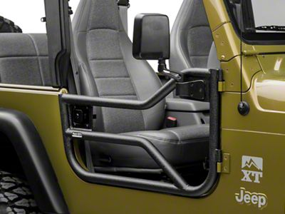 Rugged Ridge Tube Doors - Textured Black (97-06 Jeep Wrangler TJ)
