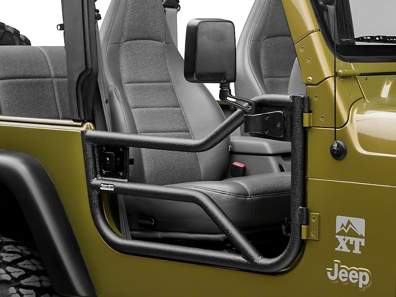 Rugged Ridge Tube Doors - Textured Black (97-06 Jeep Wrangler TJ)