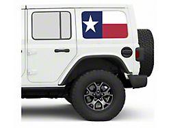 Under the Sun Hard Top Rear Side Window Decals; Always Bigger (07-21 Jeep Wrangler JK & JL 4-Door)
