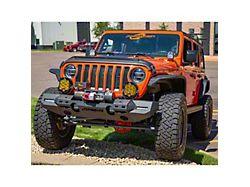 TrailChaser Aluminum Full Width Front Bumper; Textured Black (20-22 Jeep Gladiator JT)