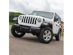 TrailChaser Aluminum Mid-Width Front Bumper; Textured Black (18-21 Jeep Wrangler JL)