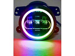 4-Inch RGB Halo Angle Eyes LED Fog Lights (76-86 Jeep CJ5 & CJ7; 97-18 Jeep Wrangler TJ & JK)